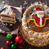 Santa's Sleigh Ride Layer Cake(473C)