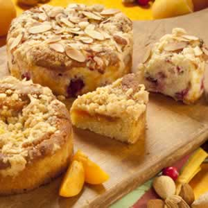 Gluten-Free Cranberry Almond/Apricot Coffee Cakes - O&H ...