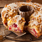 Raspberry Almond Coffee Cake (S089)