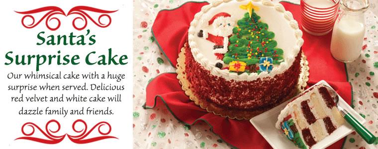 Santa's Surprise Cake