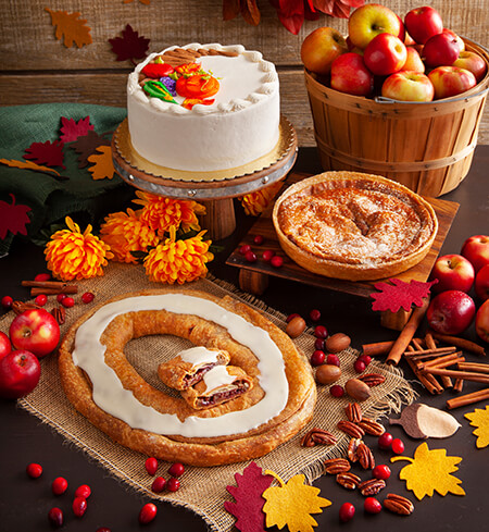 Try Our Handmade, Hand-decorated, Danish Layer Cakes for Thanksgiving