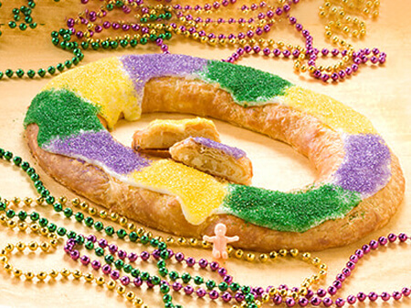 King Cake Kringle - O&H Danish Bakery, Racine, WI