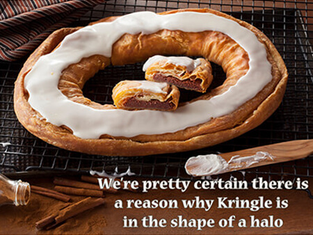 Cinnamon Roll Kringle - O&H Bakery