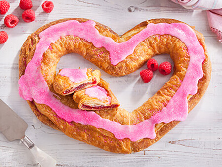 Raspberry Heart Shaped Kringle
