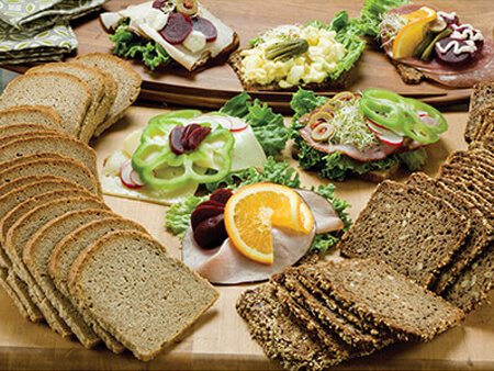 Assortment of Open-Faced Sandwich Breads