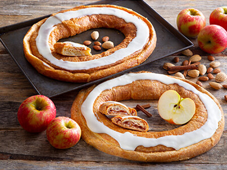 apple and almond kringle pair