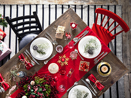 Danish Christmas Dinner Table Setting