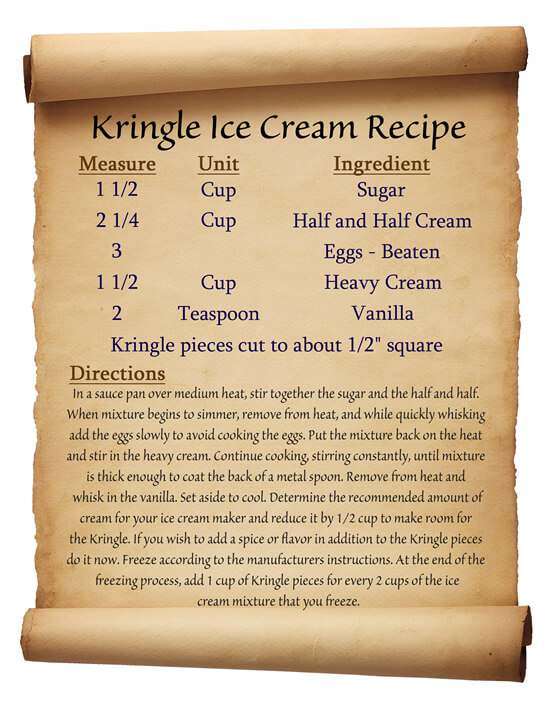 Kringle Ice Cream Recipe