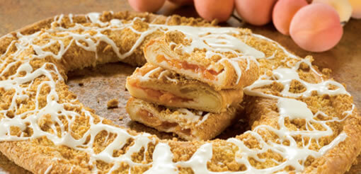 Apricot Cheese Cobbler Kringle - (149)
