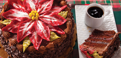 King's Poinsettia Cake - (472C)