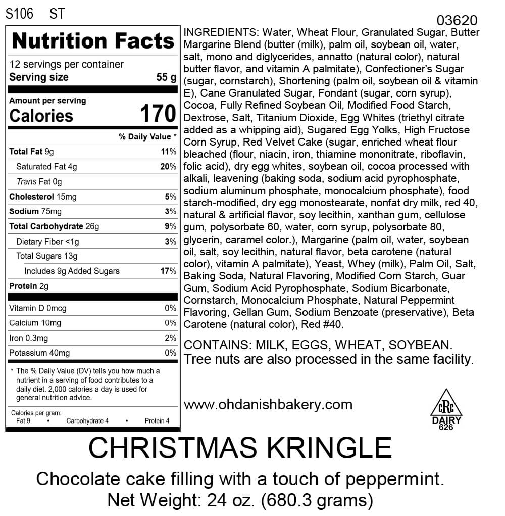 Nutritional Label for Christmas Kringle