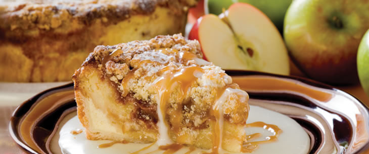 Danish Cinnamon Apple Bread Pudding