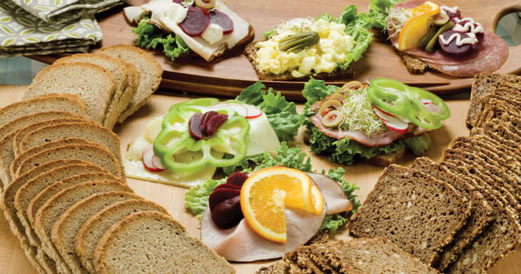 Item #: DOF1 - Danish Open Face Sandwich Breads