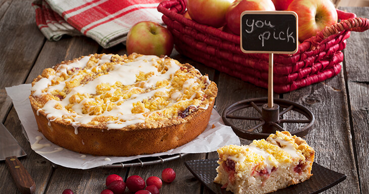 Item #: S080 - Danish Orchard Crumb Cake