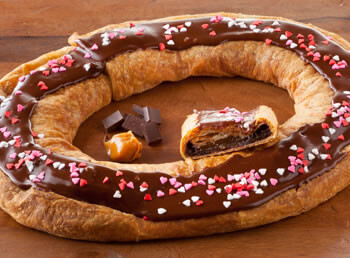 Dark Chocolate Caramel Kringle (S114)