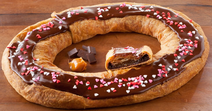 Item #: S114 - Dark Chocolate Caramel Kringle