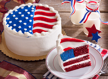 Flag Layer Cake