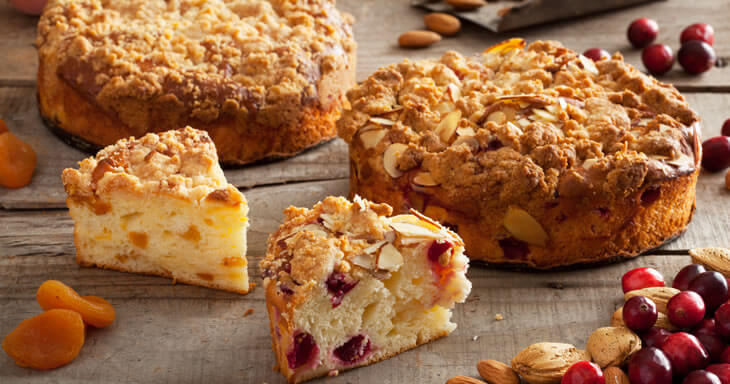 Item #: GFCC - Gluten-Free Cranberry Almond/Apricot Coffee Cakes