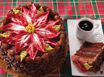 King's Poinsettia Cake