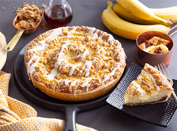 Maple Bourbon Banana Coffee Cake