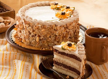 Mocha Almond Layer Cake