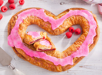 Mother's Day Raspberry Heart Shaped Kringle