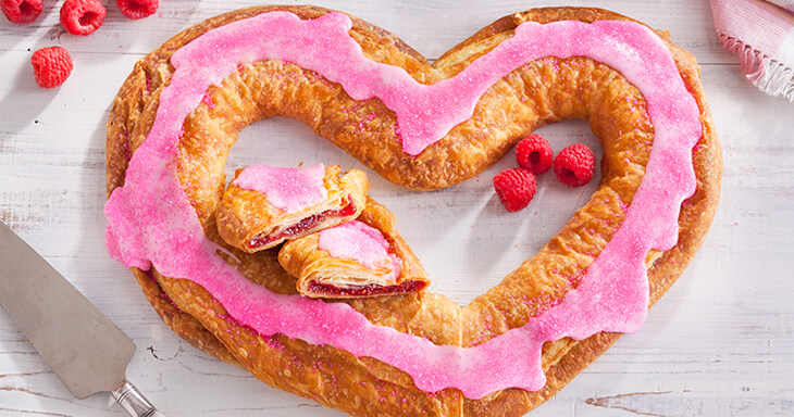Item #: 270M - Mother's Day Raspberry Heart Shaped Kringle
