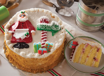 Mrs. Claus's Cheesecake Cake