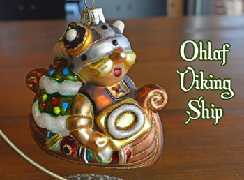Ohlaf Viking Ship Ornament
