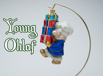 Ohlaf With Gift Ornament