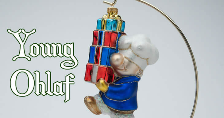 Item #: S094 - Ohlaf With Gift Ornament