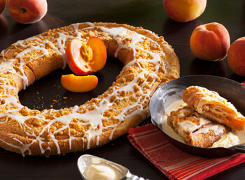 Peach Cobbler Kringle