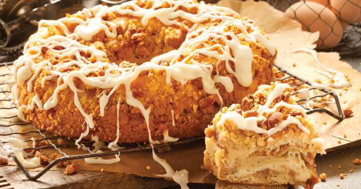 Pecan Cheese Coffee Cake O H Danish Bakery Of Racine Wisconsin