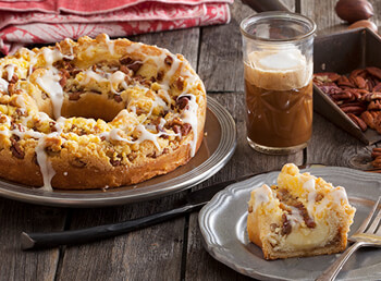 Pecan Custard Coffee Cake