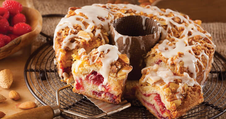 Item #: S089 - Raspberry Almond Coffee Cake