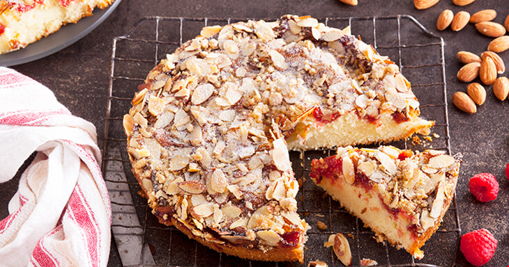 Item #: 312 - Raspberry Almond Crumb Cake