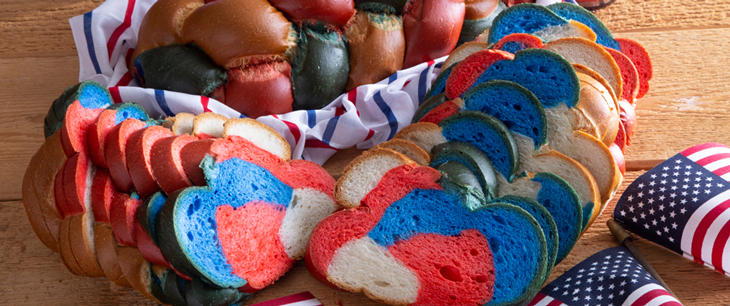Red, White & Blue Braided Bread