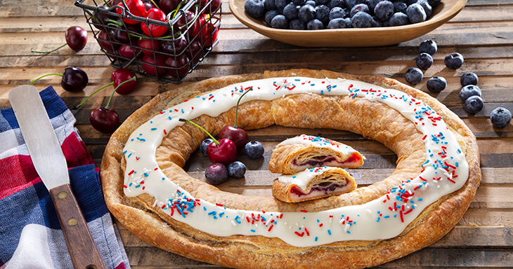 Item #: S110 - Red, White, and Blue Kringle