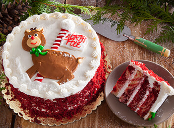 Rudolph's Red Velvet Marble Layer Cake