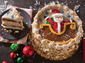 Santa's Sleigh Ride Layer Cake