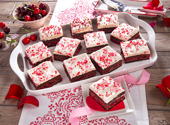 Valentine's Chocolate Cherry Brownies (V466)
