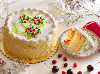 Wisconsin Christmas Layer Cake